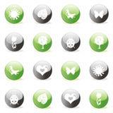 сеть лоснистой иконы установленная Стоковые Изображения