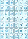 сеть места иконы Стоковое Фото
