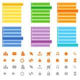 сеть места меню иконы установленная Стоковая Фотография