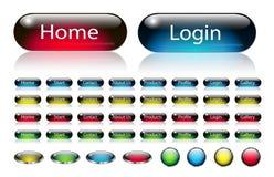 сеть навигации кнопок установленная Стоковая Фотография