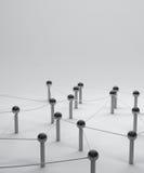 Сеть на социальных средствах массовой информации, communicati Pin соединения перевода 3d Стоковые Изображения RF