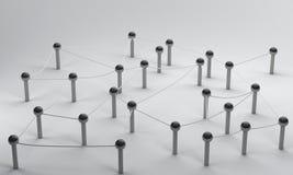 Сеть на социальных средствах массовой информации, communicati Pin соединения перевода 3d Стоковое Изображение RF