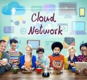 Сеть облака вычисляя концепцию цифровой информации Стоковые Фотографии RF