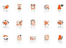 сеть офиса икон Стоковое Изображение