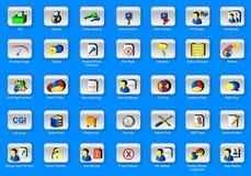 сеть панели 35 икон установленная Стоковое Изображение
