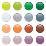 сеть пастельной печати градиента кнопок установленная Стоковые Изображения