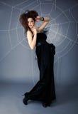 сеть паука девушки Стоковые Фото