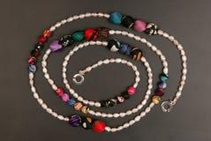 сеть перлы ожерелья утра росы Стоковое фото RF