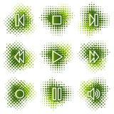 сеть плеера икон иллюстрация штока