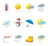 сеть погоды икон Стоковые Изображения RF