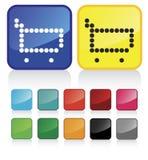сеть покупкы тележки кнопок Стоковая Фотография RF