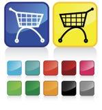 сеть покупкы тележки кнопок Стоковое фото RF