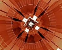 сеть померанца иллюстрации дела Стоковое Фото