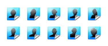 сеть потребителей икон Стоковое Изображение