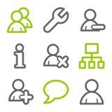 сеть потребителей икон иллюстрация штока