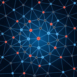 Сеть предпосылки Предпосылка объезжает точки и линии Стоковое Фото