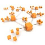 сеть принципиальной схемы дела Стоковое фото RF
