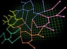 сеть принципиальной схемы Стоковая Фотография RF