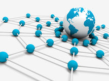 сеть принципиальной схемы Стоковые Фото