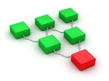 сеть принципиальной схемы Стоковое Изображение RF