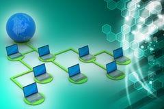 сеть принципиальной схемы гловальная Стоковое Изображение RF