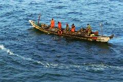 Сеть рыбной ловли в Африке Стоковое Фото