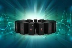 Сеть сервера Стоковое Изображение