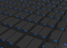 сеть серверов данным по предпосылки Стоковая Фотография