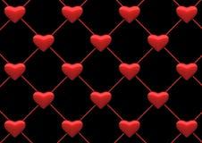 сеть сердца предпосылки иллюстрация штока