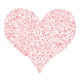 сеть сердца Стоковые Изображения RF