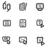 сеть серии иконы простая иллюстрация вектора