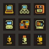 сеть серии иконы Стоковое Фото