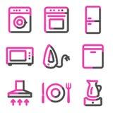 сеть серии икон дома контура приборов розовая бесплатная иллюстрация