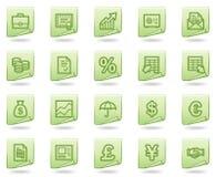 сеть серии икон зеленого цвета финансов документа иллюстрация штока
