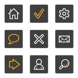 сеть серии икон основных кнопок серая Стоковые Фото