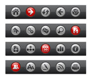 сеть серии навигации кнопки штанги Стоковое фото RF
