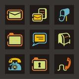 сеть серии почты иконы иллюстрация вектора