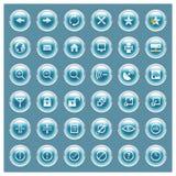 сеть серии glossee кнопки установленная Стоковые Фото
