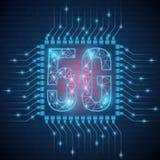 сеть сети 5g соединяет спутники вокруг земли Сеть концепции конспекта глобальная соединяется и сообщения в телефоне r иллюстрация штока