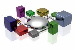 сеть соединений 3d Стоковые Изображения