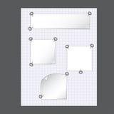 сеть стикеров конструкции бумажная Стоковые Фото