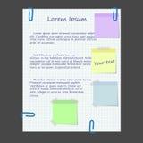 сеть стикеров конструкции бумажная Стоковое Изображение RF