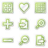 сеть телезрителя стикера изображения икон контура зеленая Стоковая Фотография