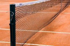 Сеть теннисного корта увиденная через рамку Стоковая Фотография