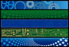 сеть технологии знамен Стоковое фото RF