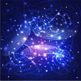 Сеть технологии мира и цифровые предпосылка, вектор & иллюстрация Стоковые Изображения RF