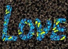 сеть универсалии шаблона страницы влюбленности надписи приветствию карточки предпосылки Полюбите надпись на предпосылке morpho ба Стоковое фото RF