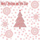сеть универсалии шаблона страницы приветствию рождества карточки предпосылки Стоковые Фото