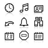 сеть устроителя икон контура иллюстрация штока