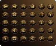 сеть финансов butto дела Стоковая Фотография RF